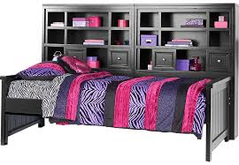 roomsto go kids cottage colors black 5 pc bookcase daybed beds colors