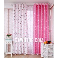 Pink And Grey Nursery Curtains White And Pink Patterned Dreamy Princess Nursery Curtains