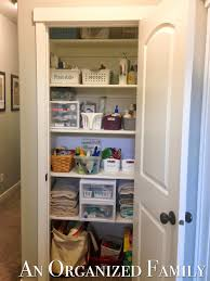 Linen Closet An Organized Family Organizing Your Linen Closet