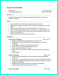 Sample Resume For Medical Technologist by Data Analyst Resume Keywords Resume For Your Job Application