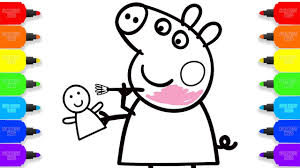 how to draw peppa pig colouring baby doll coloring pages kid
