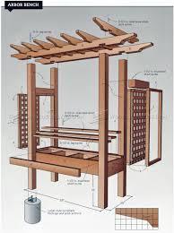 arbor bench plans u2022 woodarchivist