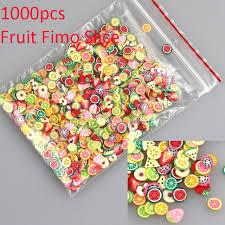 aliexpress com buy bluezoo 1000pcs pack nail art 3d fruit fimo