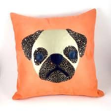 leopard home decor gold and leopard pug pillow cover dog breed pillows home decor