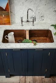 Copper Kitchen Faucet Pewter Copper Kitchen Sink Faucet Wide Spread Two Handle Pull Down