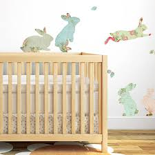 fabric rabbit wall stickers by spin collective fabric rabbit wall stickers