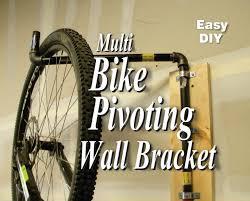 easy diy multi bike pivoting wall bracket youtube