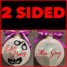 50 shades of grey fifty shades of grey glass ornament ornament