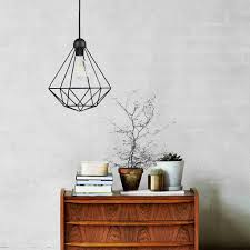 how to wire a pendant light nordlux tees geometric cage wire pendant light black lsy