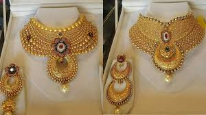 bridal choker necklace images Bridal gold choker designs jpg
