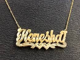 nameplate necklace plated gp name plate necklace free chain personalized bb1 nikfine