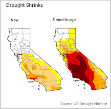 california drought map january 2016 less than 1 percent of california now in drought