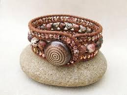 leather cuff wrap bracelet images 101 best 3 row beaded cuff bracelet images beaded jpg