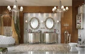 Classic Bathroom Furniture Beautiful Classic Bathroom With Silver Vanity Marble Wall And