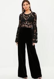 lace top jumpsuit black lace top jumpsuit missguided