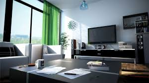 Black Living Room Curtains Ideas Green Curtain With Black Furniture Design For Modern Living Room