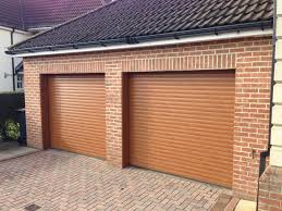 hormann rollmatic made to measure insulated roller door in golden