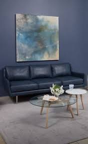 Blue Leather Sofa by Delena Leather Sofa Only At Macy U0027s Macys Com Sit On It