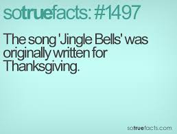 the song jingle bells was originally written for thanksgiving