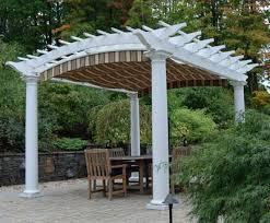 standard arch top pergola and shadefx canopy wood pergolas