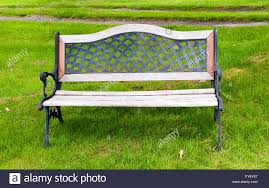 cast iron and wood bench stock photo 102800607 alamy