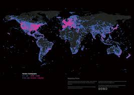 Beautiful World Map by All Flickr Photos Plotted A Beautiful Map Of The World