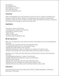 Central Service Technician Resume Sample by Download Automotive Technician Resume Haadyaooverbayresort Com