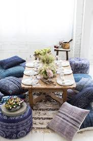 Dining Room Cushions Low Dining Tables Cushion Seating Found Vintage Rentals Boho