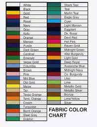 shades of color fabric color chart