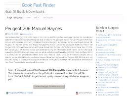 26 peugeot 206 manual haynes