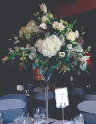Martini Glass Vase Flower Arrangement Martini Glass With A Flower Arrangement More Weddings