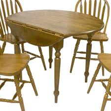 shop tms furniture wood round extending dining table at lowes com