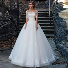 aliexpress com buy half sleeve lace ball gown wedding dresses