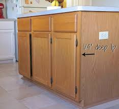 kitchen cabinet baseboards how to customize a kitchen island with trim lost found