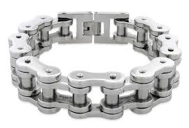 steel chain bracelet images Stainless steel very thick motorcycle chain bracelet 18mm jpg
