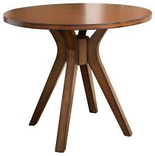 Mid Century Bistro Table Noel Round Counter Height Solid Wood Dining Table Midcentury