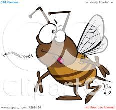 clipart of a cartoon mumbling bumble bee royalty free vector