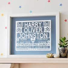 christening gifts personalised christening baptism gift papercut by ant design