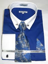 daniel ellissa ds3790p2 u201cfrench blue u201d men u0027s french cuff dress