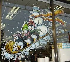 Christmas Window Decorations Paint by 90 Best Christmas Window Decorations Images On Pinterest