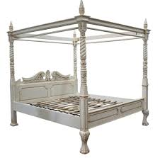 bedroom shabby chic white finest hand carved four poster bed and
