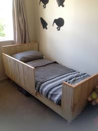 homemade toddler bed technically my husband built our toddlers bed out of pallets and