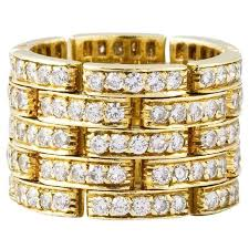 cartier rings jewelry images Cartier diamond gold maillon panthere five row band ring for sale jpg