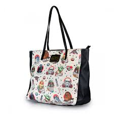 star wars tattoo flash print faux leather tote bag bags