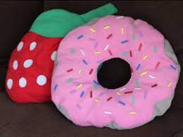 diy donut pillow w strawberry frosting how to make youtube