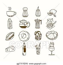 vector clipart food cafe set morning breakfast lunch or dinner