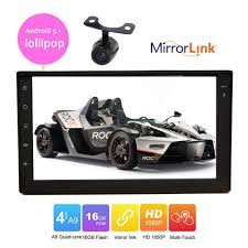 mirror link android eincar android 5 1 2 din car gps in dash autoradio touch
