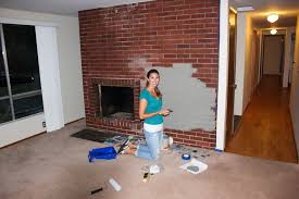 painting a brick fireplace color ideas pictures fireplace cool