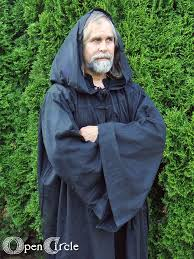 druidic robes druid robe black occult wicca wiccan witch golden magik