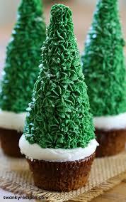 easy gingerbread tree cupcakes swanky recipes